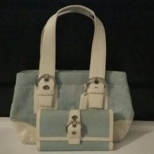 Set Medium Coach shoulder bag and wallet